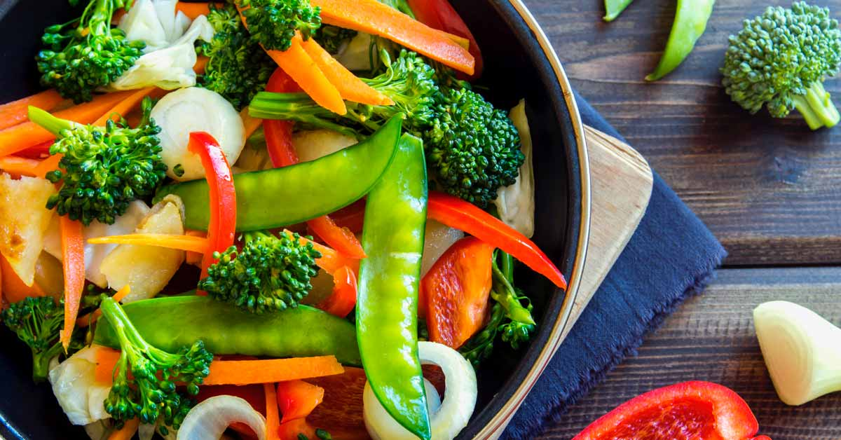 Healthy veggie-loaded diet