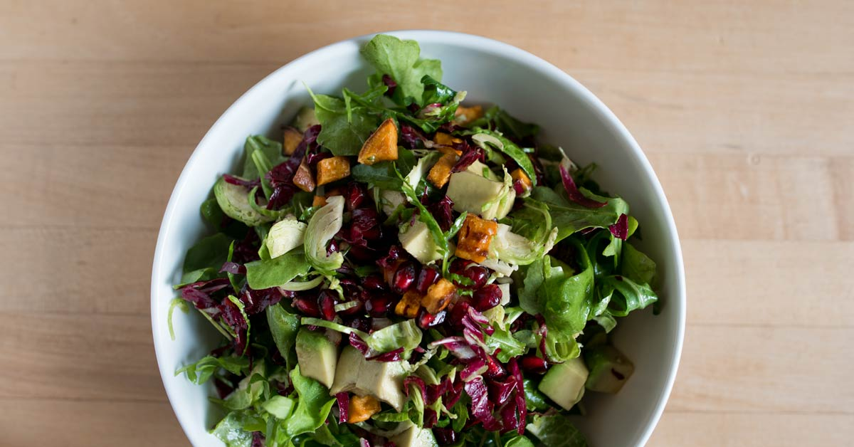 Antioxidant-Rich Pomegranate Sweet Potato Salad