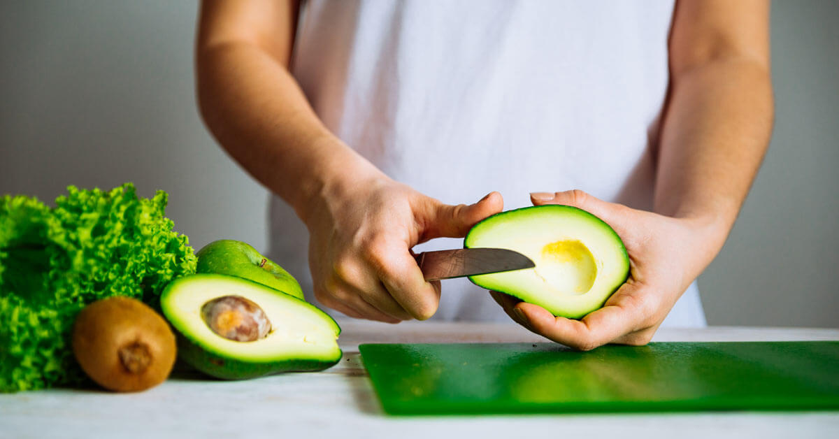 Cutting avocados